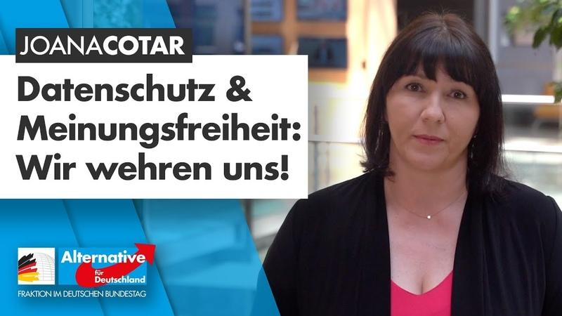 Datenschutz Meinungsfreiheit Wir wehren uns Joana Cotar AfD Fraktion im Bundestag