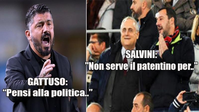 """Salvini ATTACCA Gattuso che INFURIATO risponde Pensi alla politica """""""