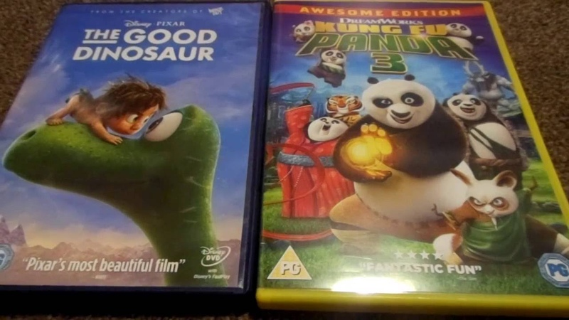The Good Dinosaur And Kung Fu Panda 3 UK DVD Unboxing