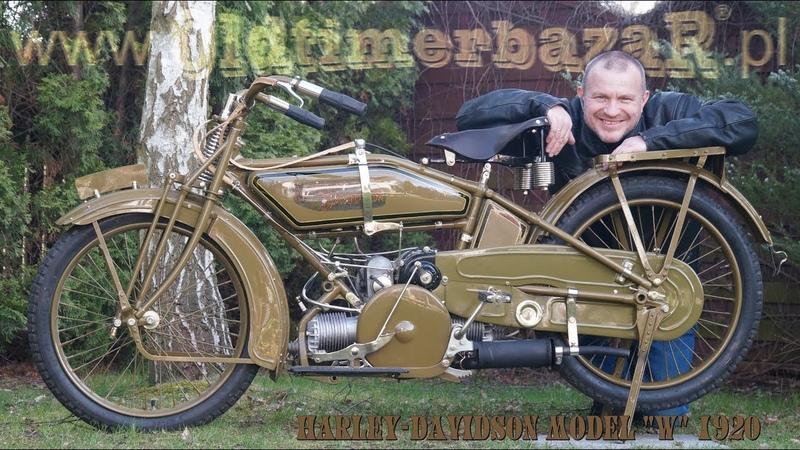 OldtimerbazaR ~ Harley Davidson Flat Twin 1920 w ruchu opowiada Piotr Kawałek