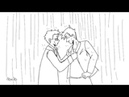 Good Omens - Kiss in the Rain (Commission)