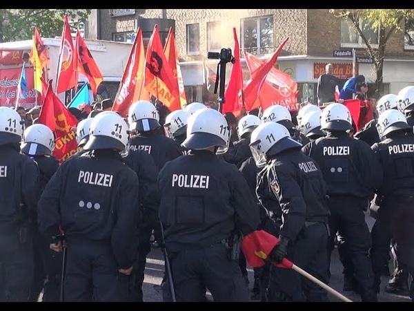 1. Mai Demo 2015 Ausschreitungen, Krawalle, Wasserwerfereinsatz Hamburg
