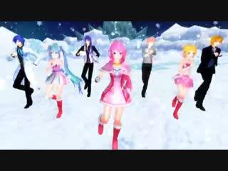 MMD Gokuraku Jodo - Luka, Miku, Rin, KAITO, Gakupo, VY2  Sora ( HNY )