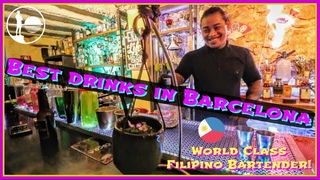 BARCELONA'S BEST COCKTAIL BAR | Top MUST TRY Drinks by Filipino Bartender