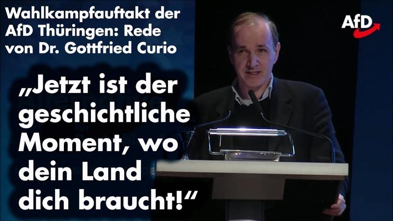 Deutschland braucht eine alternative Politik! – Dr. Curio beim Wahlkampfauftakt der AfD Thüringen