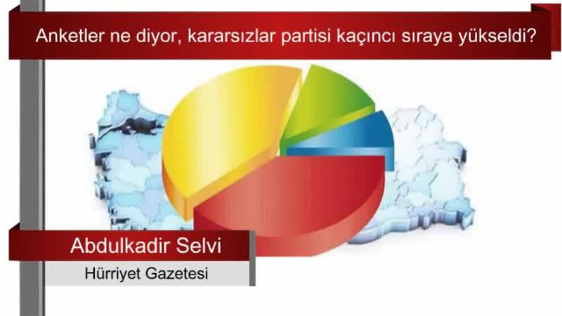149 Anketler ne diyor kararsızlar partisi kaçıncı sıraya yükseldi Abdulkadir Selvi Sesli
