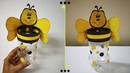Honey Bee Pen Holder | Recycle Plastic Bottles | Best out of Waste | DIY | Kids Craft