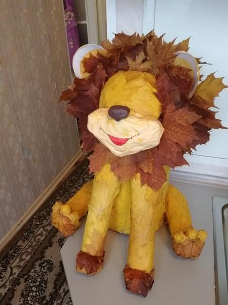 Вот такой у нас получился львёнок так сказать слепили из того, что было Семья Лаврентьевых.