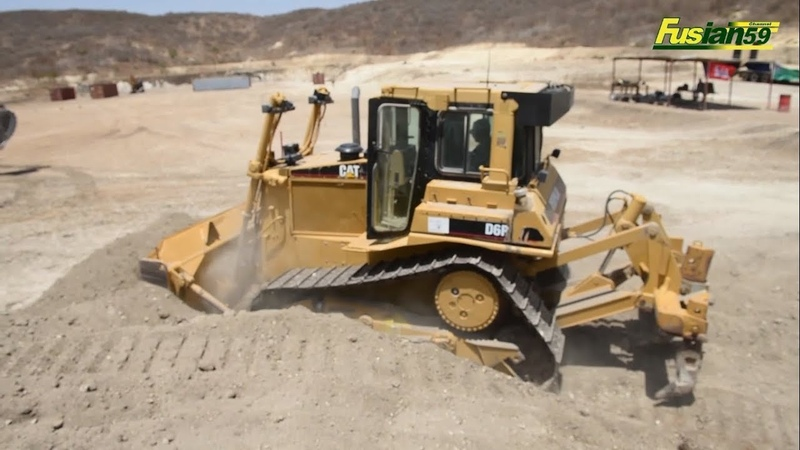 Cat D6R Bulldozer Spreads Land in American Military Camps