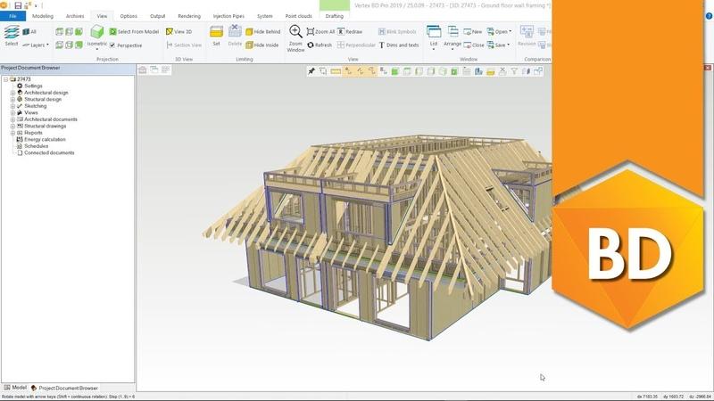 Vertex BD для деревянного каркасного домостроения как это работает