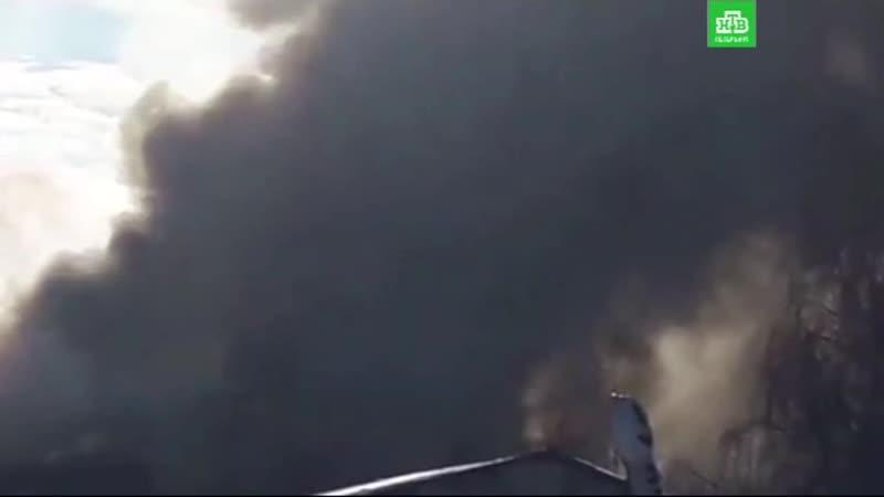Пожар на Митрофаньевском шоссе