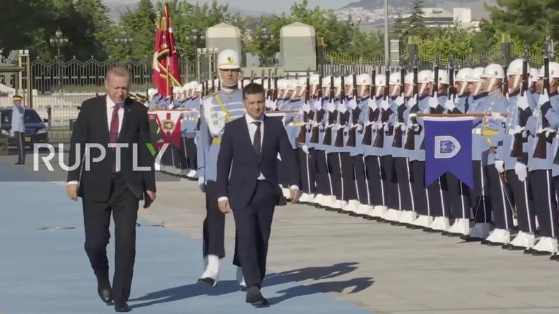 Turkey Erdogan meets Ukraine's Zelenskiy for first time in Ankara