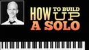 How to build up a Blues piano improvisation with Licks blues scale in C.