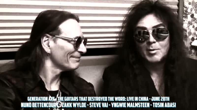 Steve Vai и Yngwie Malmsteen говорят о live-альбоме Generation Axe