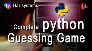 python guessing game | python game program | python for beginners | game code | harisystems