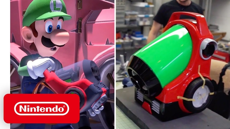 Luigi's Mansion 3 Behind the Poltergust G 00 with Volpin Props