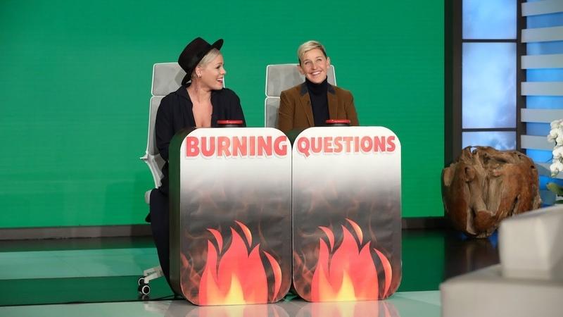 P nk Answers Ellen's 'Burning Questions'