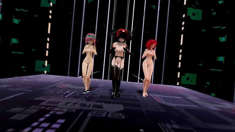 [MMD][R18] Kurumi Tokisaki, Nishikino Maki, Momo - Diamond Sky