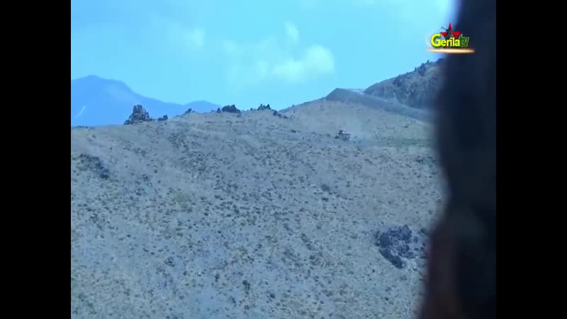 Подрыв ББМ Турции «Kipri» на СВУ, установленном курдами РПК. Провинция Хаккари, Турция.