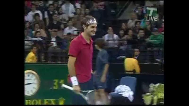 4 эйса подряд Федерера Питу Сампрасу