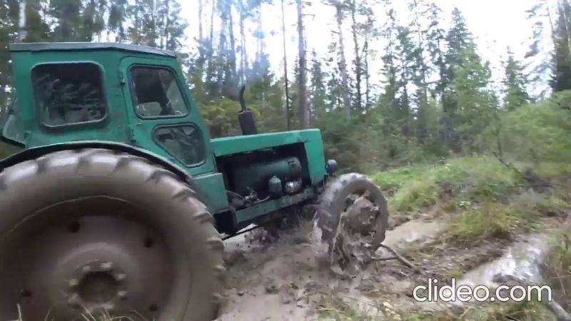 Мутные Замуты тестируеют свой трактор на проходимость