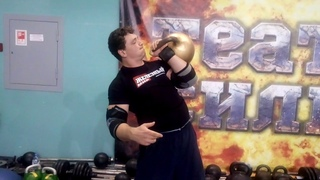 "МАКСИМ ДВОРЕЦКИЙ ШВУНГУЕТ ГИРЮ 70 КГ В СК ""САЛЮТ ГЕРАКЛИОН""! ONE-HAND 70 KG KETTLEBELL PUSH PRESS."