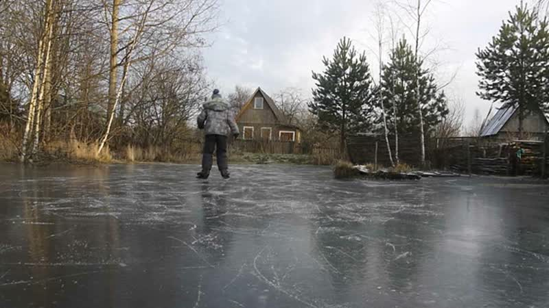 Skating rink on the pond, part 2