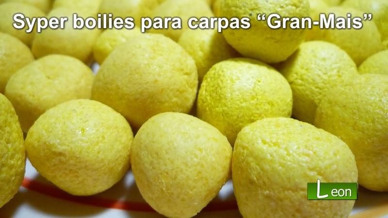 """Super boilies para PESCAR CARPAS Gran Mais"""" 🐟 BOILIES CASEROS para carpas Leon pesca"""