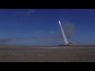 Пуски ракет ОТРК Искандер-М на полигоне Сары-Шаган в рамках СКШУ Центр-2019