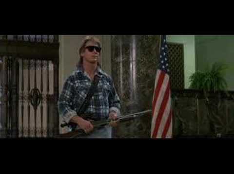 I'm here to chew bubblegum iconic scene from the They Live 1988 movie