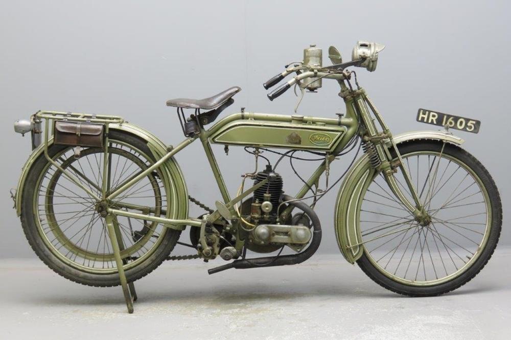 Старинный мотоцикл Ixion Model B MKII 1920