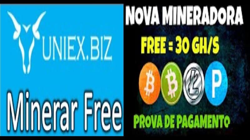 Uniex.biz | Mineradora mais de 100 dias pagando | Free 30 gh/s | Prova de pagamento | Renda Extra