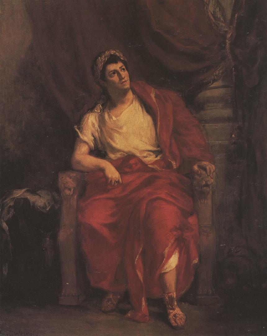 Актер Тальма в образе императора-артиста Нерона (портрет работы Э. Делакруа, 1852/1853).
