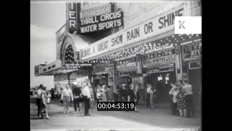 1940s 1950s USA Atlantic City Fairground 16mm