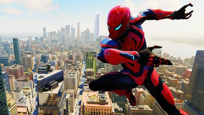 Spider-Man PS4 - Spider Armor MK III Flawless Combat Free Roam Gameplay