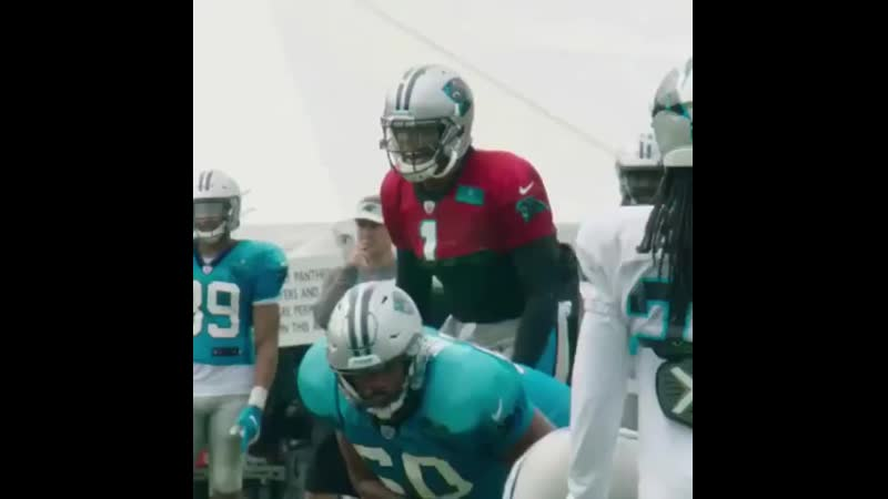Training Camp Video Cam Newton hits Greg Olsen over Dontes Jackson's head