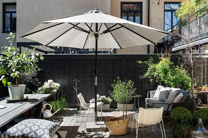 Квартира с чудесным внутренним двориком в Стокгольме
