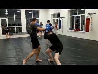 Ударная тренировка в AnacondA... . Отработка контратакующих действий при работе вторым номером. Кулачный бой.