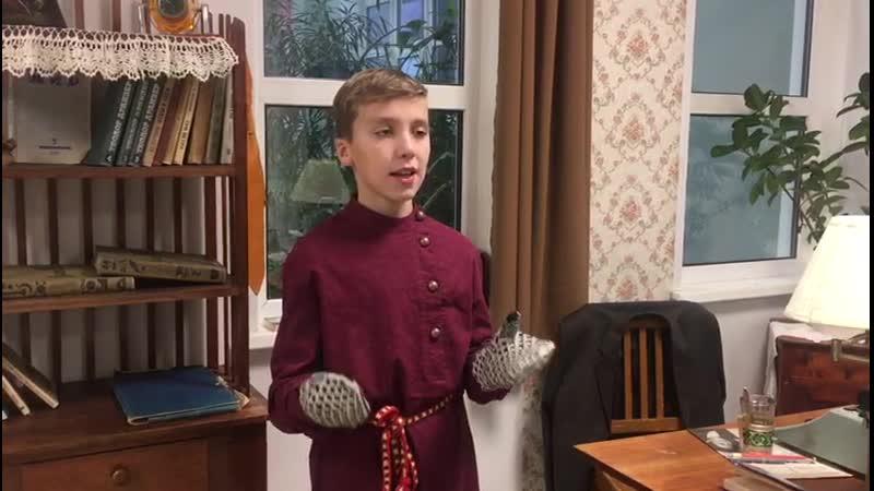 Канев Костя читает отрывок из стихотворения Вачег (Рукавицы) Н. Чупровой