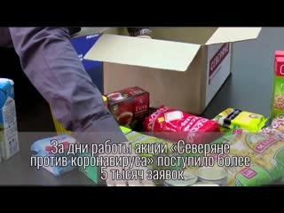 Более 5 тысяч заявок поступило в штаб акции СЕВЕРЯНЕ против коронавируса
