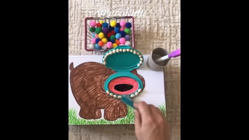 Накорми и почисти зубы бегемоту