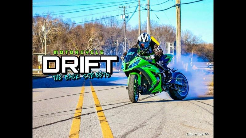Motorcycle DRIFT the back streets Kyle Sliger Stunt