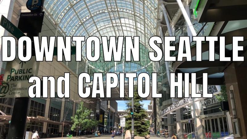 Downtown Seattle, Washington to Capitol Hill | Pine St, Pike St, Broadway | Virtual Walking Tour 4k