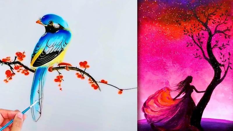 Painting artist💘Most Amazing Art Drawing Video💘Nghệ thuật vẽ tranh đỉnh cao của họa sĩ Trung Quốc41