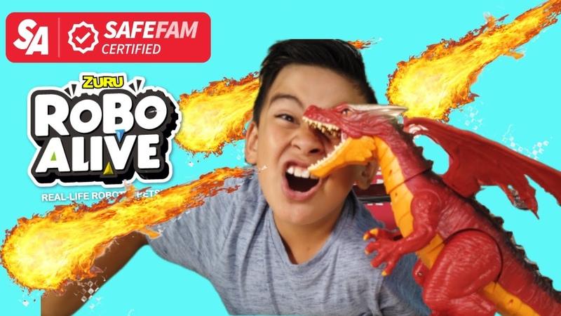 ZURU ROBO ALIVE FIRE BREATHING DRAGON UNBOXING - Keelan Toys Review