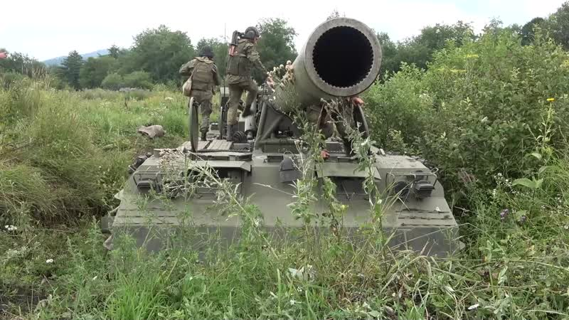 Малка в бою Стрельба самоходных орудий ГЛАВНОГО КАЛИБРА