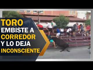 Joven queda inconsciente tras ser cogido por un toro