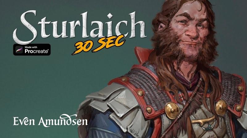 Digital Speed Paint: Sturlaich | TEGN | Fantasy Art