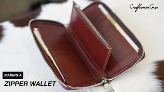 Zipper Wallet Tall #LeatherAddict EP64