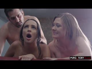 Addison Lee, Sofi Ryan - An Indecent Attorney Vol 1 E2 - Big Natural Tits Threesome Blonde Brunette, Blowjob Porn